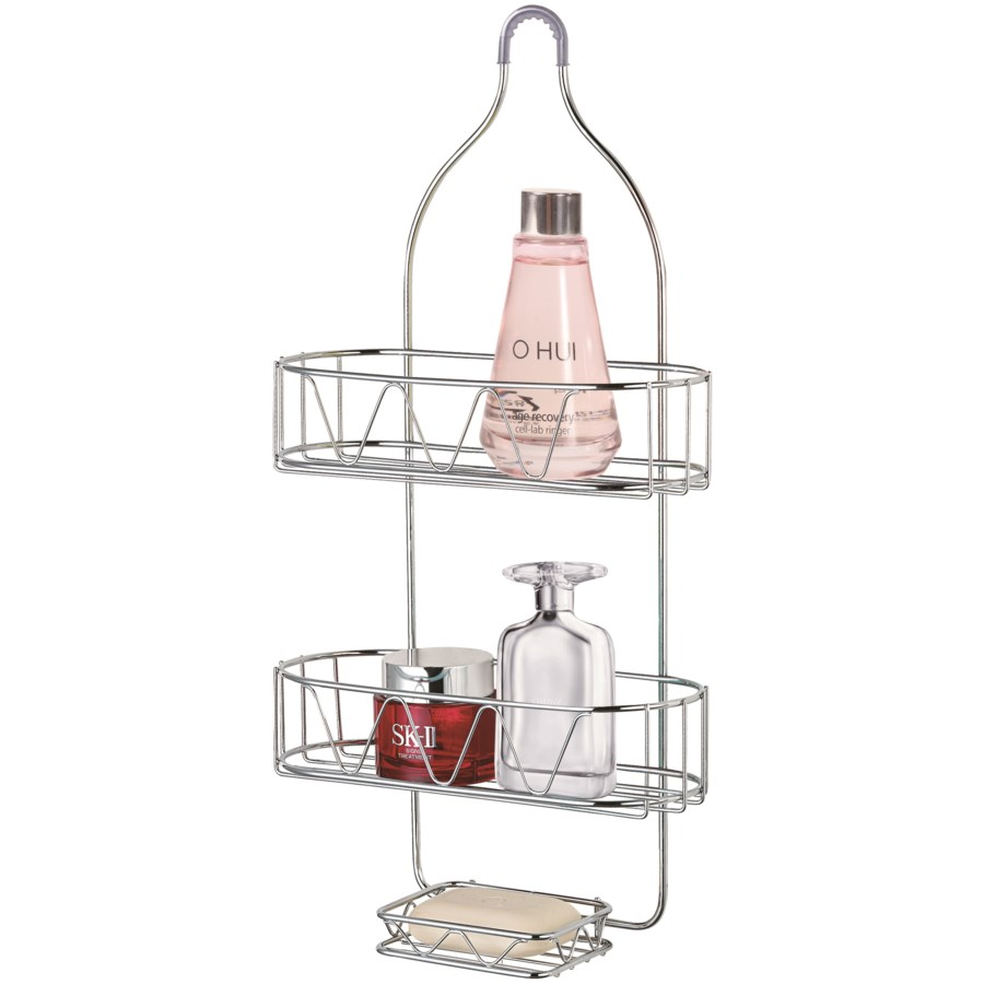 Chrome Extra Deep Shower Caddy (12)