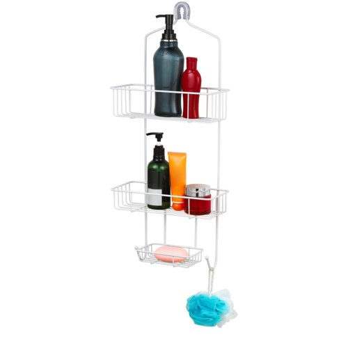 White - Large Shower Caddy (12)