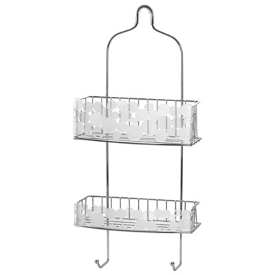 Chrome Bubble Design Shower Caddy (12)