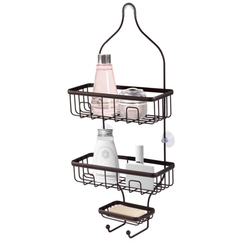 Bronze Shower Caddy with Soap Dish (12)