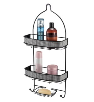 Black -  Shower Caddy with Diamond Cloth Decoration (6)
