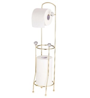 Gold - Floor Tissue Holder with 3 crystal(12)