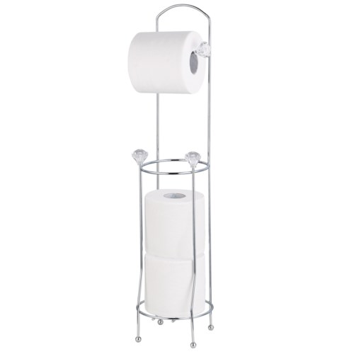 Chrome - Floor Tissue Holder with 3 crystal( 12 )