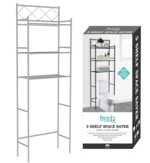 Silver - Space Saver with Three Tiers (6)