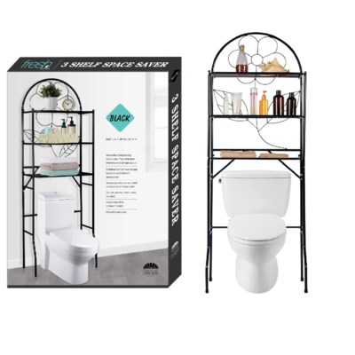 Black - Over-the-Toilet Space Saver(1)