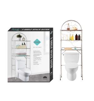 Silver - No-tool-installation Over Toilet Space Saver(1)