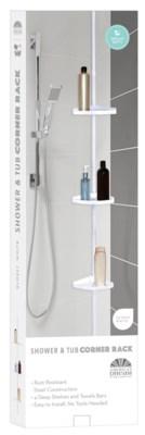 Plastic White Bathroom Corner Shelf (6)