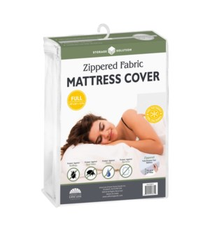 Fabric Mattress Cover with Zipper, Full (12)