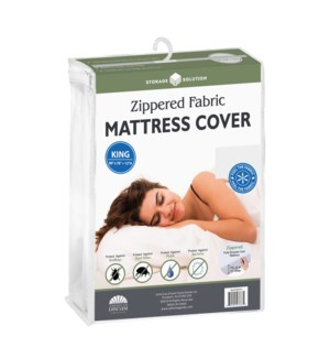 Fabric Mattress Cover with Zipper-King (12)