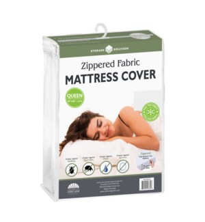 Fabric Mattress Cover with Zipper-Queen (12)
