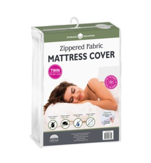 Fabric Mattress Cover with Zipper-Twin ( 12 )