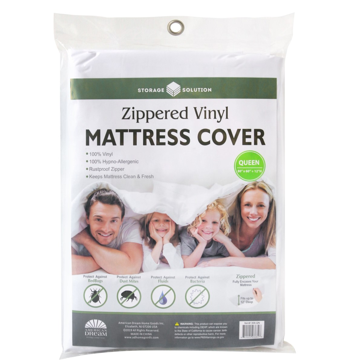 PVC Mattress Cover with Zipper-Queen (24)
