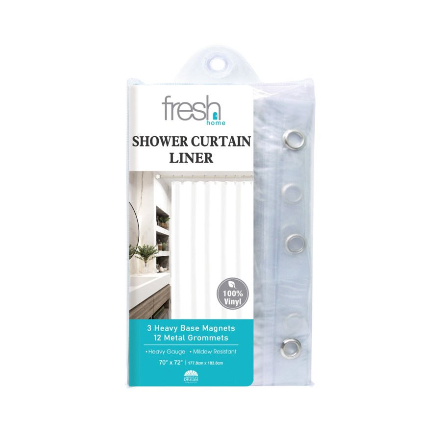 Clear PVC Shower Curtain Liner ( 24/48 )