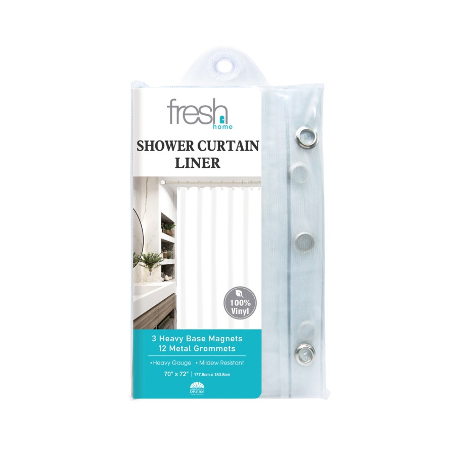 Frosted PVC Shower Curtain Liner ( 24/48 )