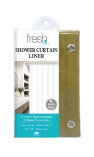 Gold PVC Shower Curtain Liner ( 24 )