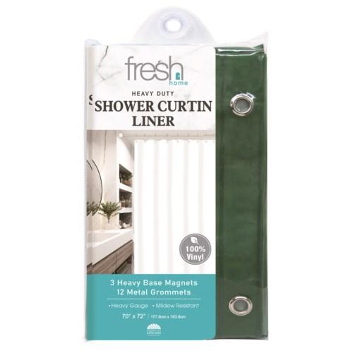 Hunter Green PVC Shower Curtain Liner ( 24/48 )