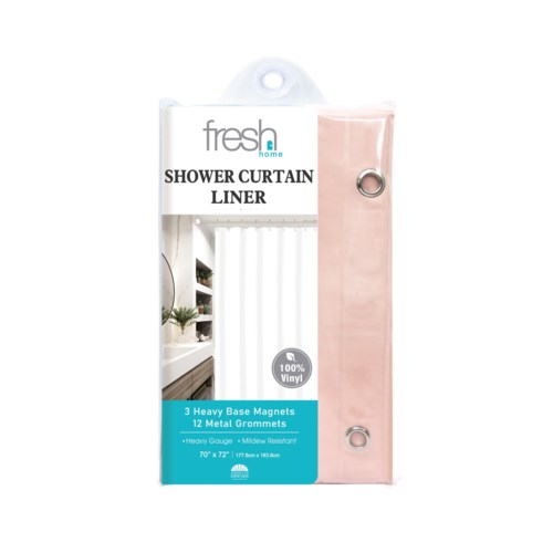 Peach PVC Shower Curtain Liner ( 24/48 )