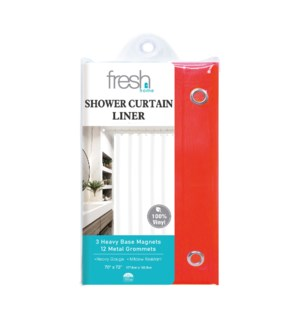 Red PVC Shower Curtain Liner (24)