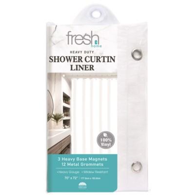 White PVC Shower Curtain Liner ( 24/48 )