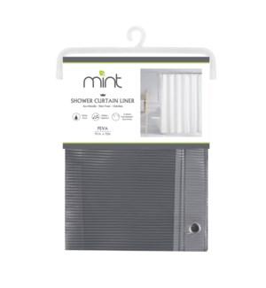 4.4 Gauge Grey Pinstripe PEVA Shower Curtain Liner (12)