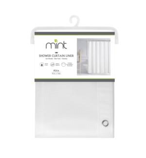 4.4 Gauge Clear Waffle Desig PEVA Shower Curtain Liner (12)