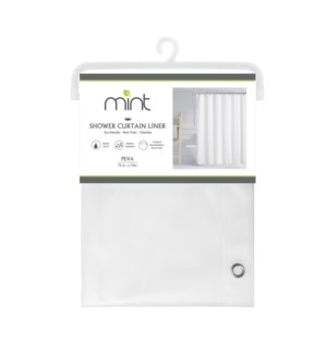 4.4 Gauge Clear Diamond Desig PEVA Shower Curtain Liner (12)