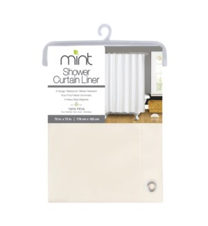 6 Gauge Beige PEVA Shower Curtain Liner(12)