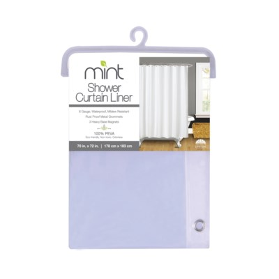 6 Gauge Clear PEVA Shower Curtain Liner(12)