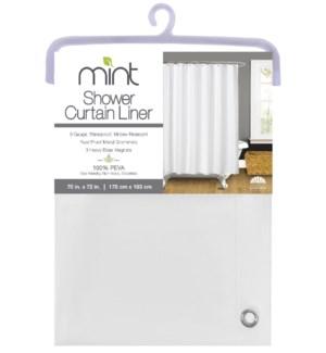 6 Gauge White PEVA Shower Curtain Liner(12)