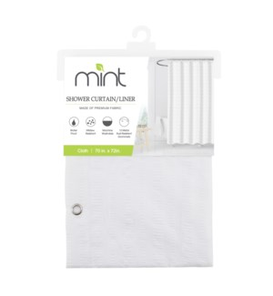 White Waterproof Soft Emboss Microfibre Shower Curtain (12)