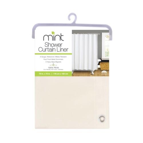 8 Gauge Beige PEVA Shower Curtain Liner(12)