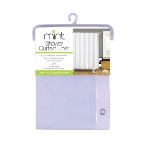 8 Gauge Clear PEVA Shower Curtain Liner(12)