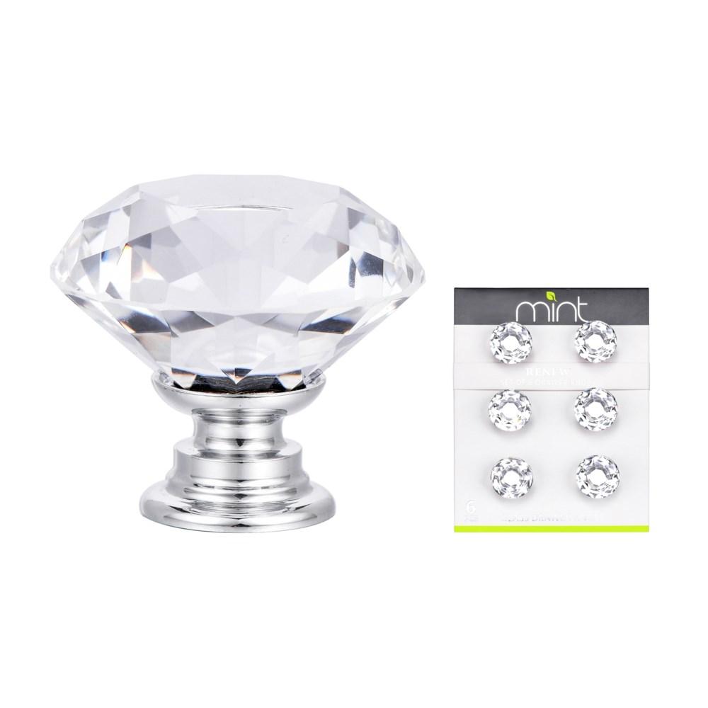 6PC Monarch Crystal Glass 30MM Knob Pull Handles (12 set)