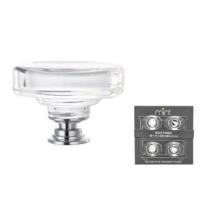 4PC Somerset Classic Crystal Glass 45MM Knob Pull Handles (12 set)