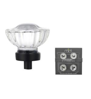 4PC Chateau Crystal Glass 35MM Knob Pull Handles (12 set)