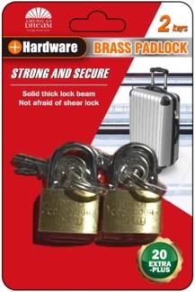 Pad Lock 25/30mm 2 pieces (36/144)