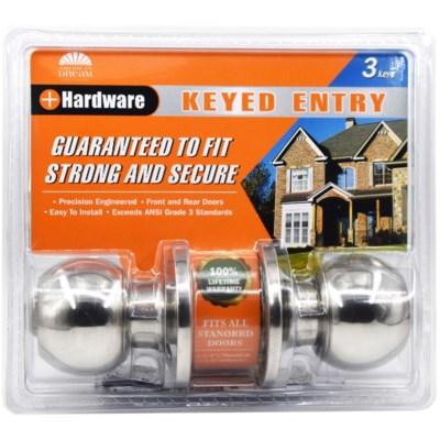 Chrome - Keyed entry lock (6/24)