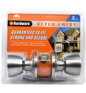 Satin nickel-Keyed entry Lock (6/24)