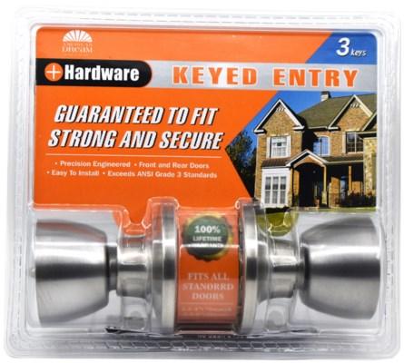 Satin nickel-Keyed entry Lock (6/24)