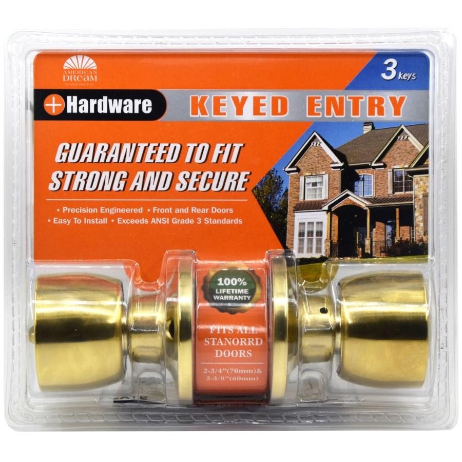Polished Brass - Keyed entry lock (6/24)