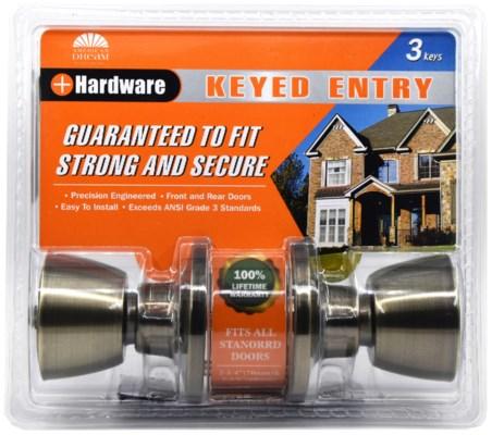 Antique Brass -Keyed entry lock(6/24)