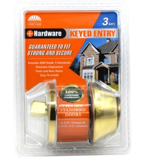 Satin Nickel  Single Cylinder Deadbolt LocK (6/24)