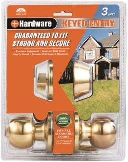 Brass Keyed Combo Lockset (6/12)