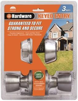 Satin Nickel - Keyed Combo Lockset (6/12)