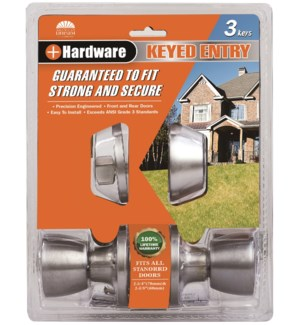 Satin Nickel - Keyed Combo Lockset (6/12)