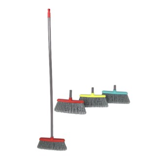 Elisabeth Broom. Assorted color push brooms ( 12 )