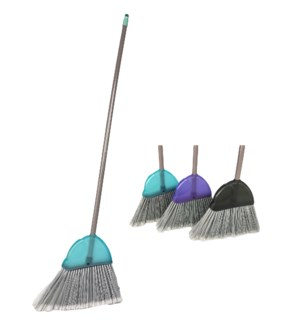 Large Frosted Transparent Angle Broom (12) 4 Colors Assorted