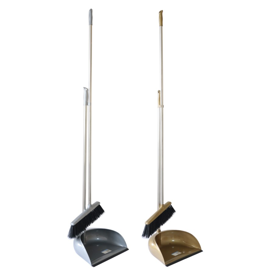 Dust pan with broom(14) 2 Colors Assorted