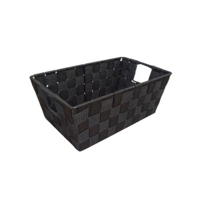 Black - Small Woven Strap Bin( 12 )