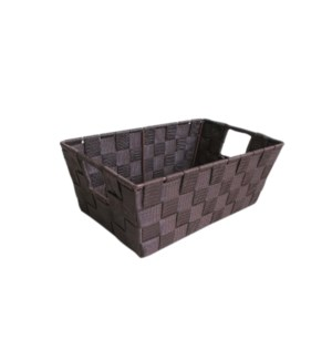 Brown- Small Woven Strap Bin ( 12 )